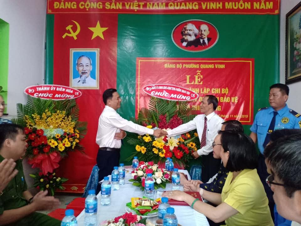 Lễ công bố thành lập chi bộ Công ty TNHH MTV Dịch vụ bảo vệ Đồng Nai Thiên Long
